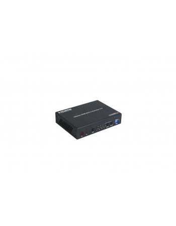 HDM42A MATRIZ HDMI 4X2 4K COM SAIDA DE AUDIO