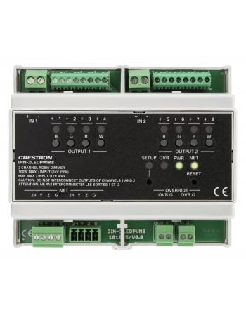 DIN-2LEDPWM8 MODULO DIMMER RGBW LED 2 CANAIS DIN