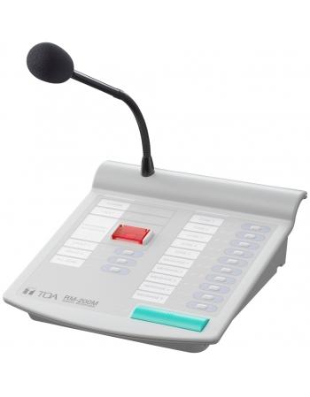 RM-200M MICROFONE REMOTO COM SELETOR DE ZONAS PARA TOA VM-2000 E VM-3000