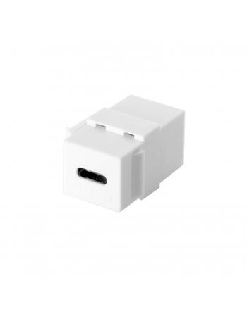 Keystone USB Tipo C para Alimentação Branco AVUSBC