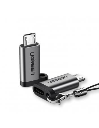 Adaptador Micro USB para USB-C Fêmea com OTG 50590