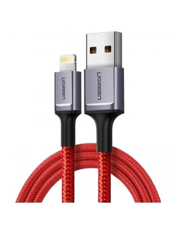 80635 CABO LIGHTNING APPLE PARA USB-A EDICAO ESPECIAL RED VELVET COM 1 METRO